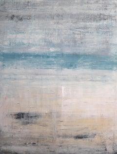 """1279 Hawaii - Hapuna Beach"" Abstract, Seascape Painting, 21st Century, Acrylic"