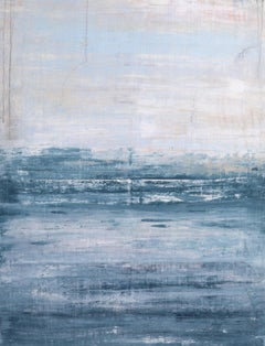 """1282 Clearwater Beach"" Abstract, Seascape Painting, 21st Century, Acrylic"