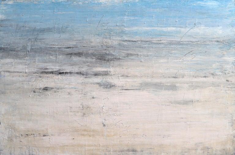 "Roger König Landscape Painting - ""1284 Kapalua Bay Beach #2"" Abstract, Seascape Painting, 21st Century, Acrylic"