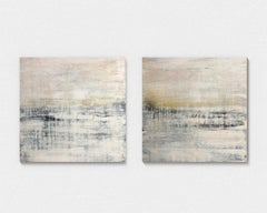 """""""1313 green/grey elegance° Diptych Abstract,  Painting, 21st Century, Acrylic"""