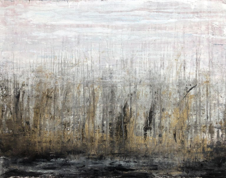 """Roger König Abstract Painting - """"1316 Golden Harbour"""" Part1 Abstract,  Painting, 21st Century, Acrylic"""