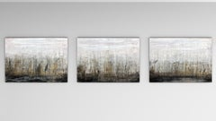 """1319 Golden Harbour"" (triptych) Abstract,  Painting, 21st Century, Acrylic"