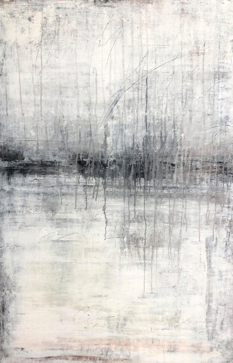 "Roger König Abstract Painting - ""1320 antique white wall"" Abstract, Painting, 21st Century, Acrylic"
