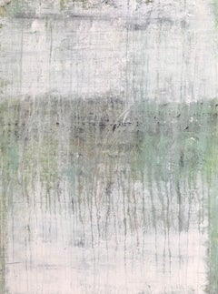 """1322 antique white/green "" Abstract, Painting, 21st Century, Acrylic"