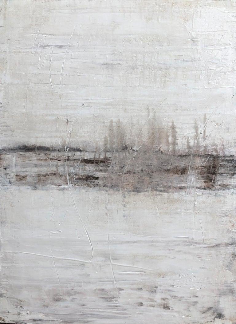 "Roger König Landscape Painting - ""1330 Antique White Elegance"" Part1, Painting, 21st Century, Acrylic"