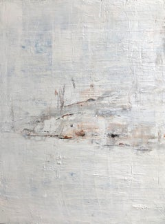 """1342 Discreet White Blue "" Part1, Minimalism Painting, 21st Century, Acrylic"