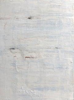 """1344 Discreet White Blue "" Part3, Minimalism Painting, 21st Century, Acrylic"