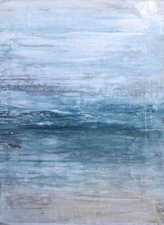 """1360 Hawaii Beach"" Part1, Seascape Painting, 21st Century, Acrylic, Abstract"