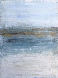 """1372 Hawaii Beach - Golden Horizon"" Part1, Seascape Painting, Acrylic"