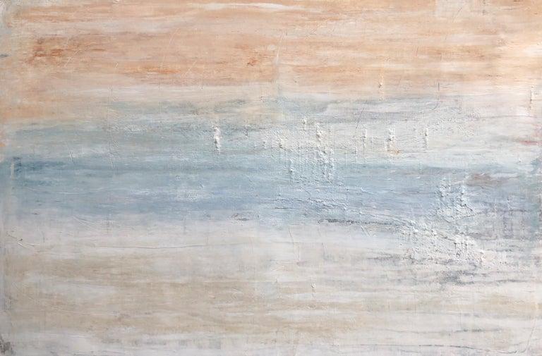 "Roger König Landscape Painting - ""1377 Beach Series"", Seascape Painting, Acrylic"