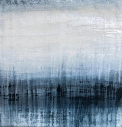 """1380 blue/white elegance"" Part1, Landscape, Abstract, Painting, 21st Century,"