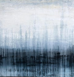 """1381 blue/white elegance"" Part2, Landscape, Abstract, Painting, 21st Century,"
