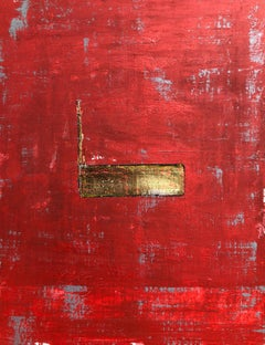 """1386 Gold Center"" - Abstract Painting, 21st Century,"