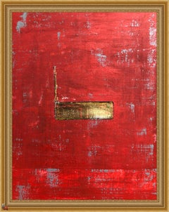 """""""1386 Gold Center"""" - Abstract Painting, 21st Century,"""