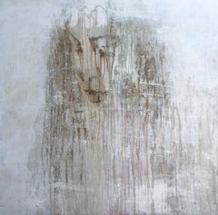 """""""1398 antique girl"""" Abstract, Rust Painting, 21st Century, Acrylic"""