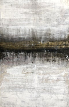 """""""1403 Antique Gold Horizon"""" Landscape, Abstract Painting, 21st Century, Acrylic"""