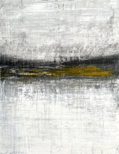 """""""1416 Antique Gold Horizon"""" Landscape, Abstract Painting, 21st Century, Acrylic"""