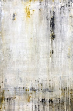 """1407 Antique Gold Wall"" Abstract Painting, 21st Century, Acrylic"