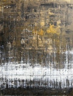 """""""1408 Antique Gold Series"""" Abstract, Painting, 21st Century, Acrylic"""