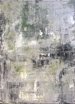 """""""Abstract Old Green"""" 1159, Abstract Painting ,21st Century, Acrylic"""