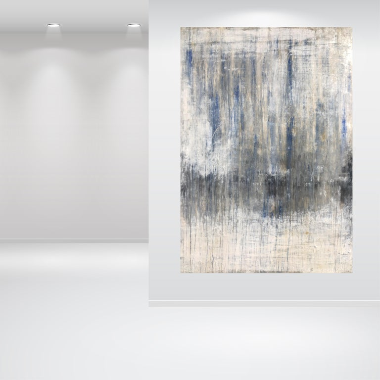 Artist: Roger König b. Dessau, Germany (1968) Master student of Kurt Schönburg, HWK Halle, Germany.  This artwork is painted with the pigment Lapis Lazuli, purest. König combines modern painting with acrylic with old techniques and in this way, he