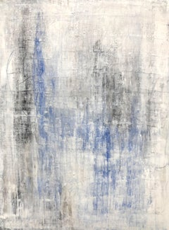 """Antique White/Lapis Lazuli, purest No.2"" Abstract, 21st Century, Acrylic"