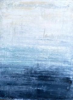 """Blue Elegance"" TT2R , Abstract, 21st Century, Acrylic, Clay Painting"