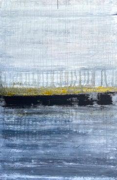 """Gold Horizon Series"" LA9W, Landscape, Abstract Painting, 21st Century, Acrylic"