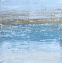 """""""Gold Horizon Series"""" ZR9A, Seascape, Abstract, Painting, 21st Century, Acrylic"""