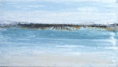 """Hawaii Gold Beach"" A41B, Abstract, Seascape Painting, 21st Century, Acrylic"