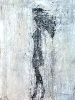 """Umbrella Girl Series"" K9W3 Abstract, Figurativ Painting, 21st Century, Acrylic"