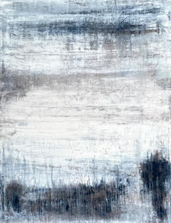 """""""White/Blue/Brown Exclusive"""" Abstract, 21st Century, Acrylic, Clay Painting"""