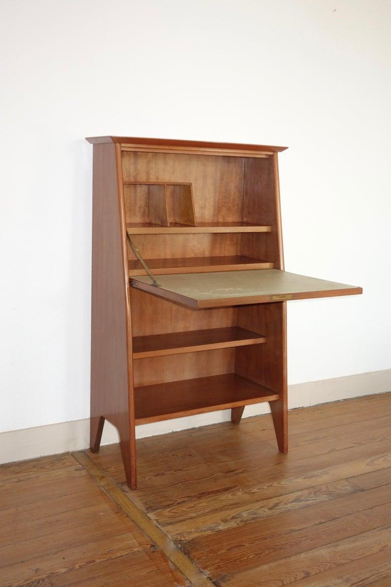 Vintage secretary desk of Roger Landault designed for ABC furniture in 1951. Model