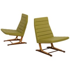 Roger Lee Sprunger for Dunbar Pair of Cantilever Lounge Chairs