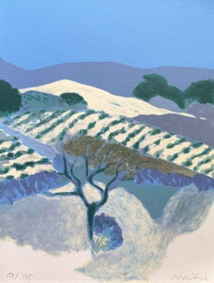 Landscape in Provence - Original Lithograph Hand Signed and Numbered - Mourlot