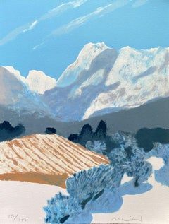 Mountains in Provence near Brignoles - Original Lithograph Hand Signed - Mourlot