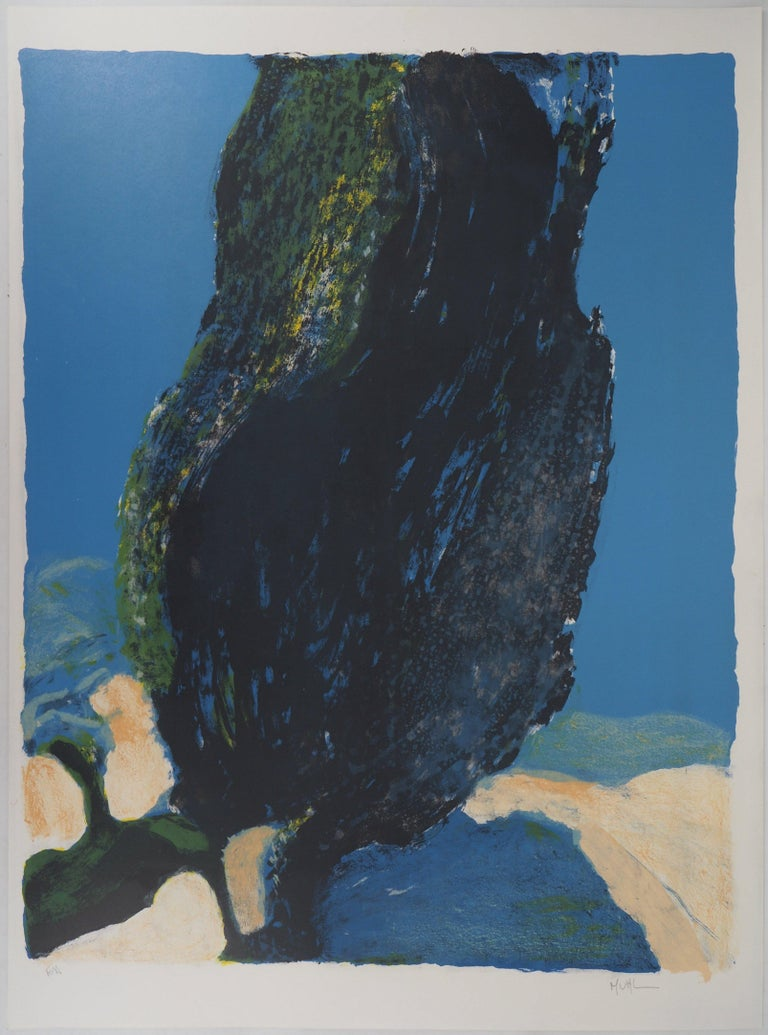 Tree in Provence - Original Lithograph Handsigned  - Print by Roger Mühl