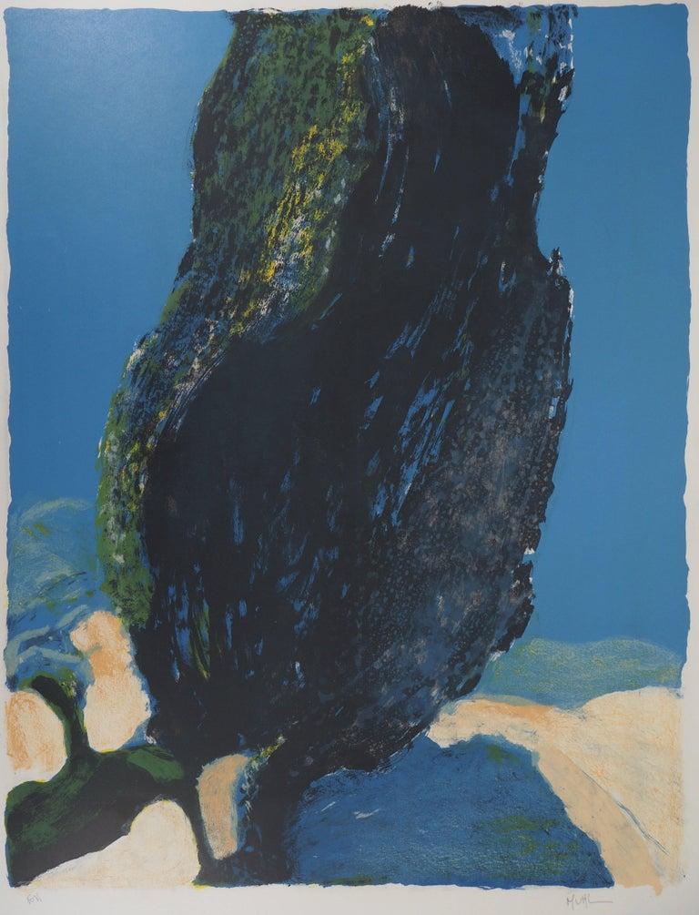 Roger Mühl Landscape Print - Tree in Provence - Original Lithograph Handsigned