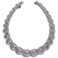 Roger Mathon for Cellini NYC 18 Karat Gold, 25.45 Carat Diamond Braided Collar
