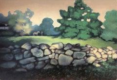 """California Farm Landscape with Horse,"" Roger Medearis, American Regionalism"