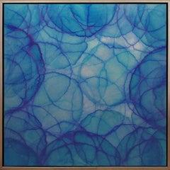 "'Cineraria"", Modern Iridescent Acrylic Geometric Painting"