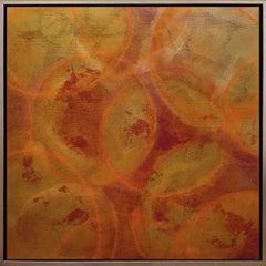 'Krameria', Modern Iridescent Acrylic Geometric Painting