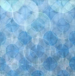 'Nacre', Large Modern Blue Iridescent Acrylic Color-Changing Painting