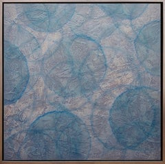 'Senecio', Modern Iridescent Acrylic Geometric Painting