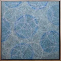 'Senex', Modern Iridescent Acrylic Geometric Painting