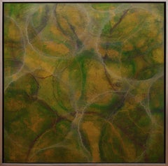 'Staphisagria', Modern Iridescent Acrylic Geometric Painting