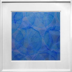 'Strophanthus', Modern Iridescent Blue Marine Silver Color-Changing Painting
