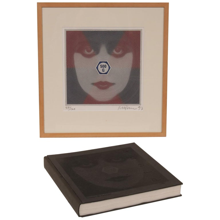 """Roger Pfund """"Weight and See"""" Art Book and Silk Screen, Germany, 1993 For Sale"""