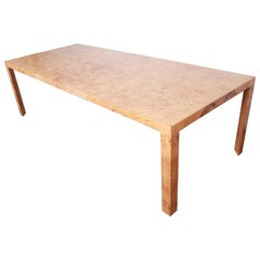 Roger Sprunger for Dunbar Mid-Century Modern Burl Wood Extension Dining Table