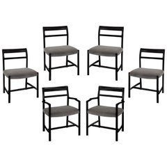 Roger Sprunger Set of 6 Dining Chairs for Dunbar 1967 'Signed'